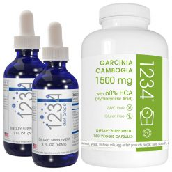 1234 diet drops two bottles and garcinia cambogia 180ct